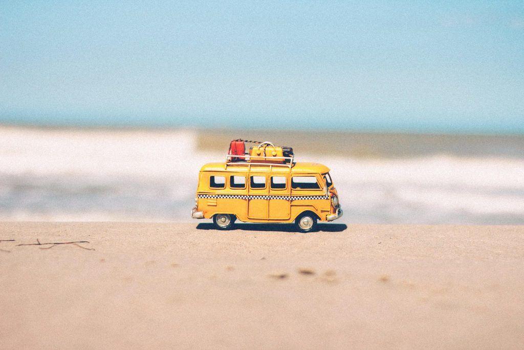 Toy RV at Beach
