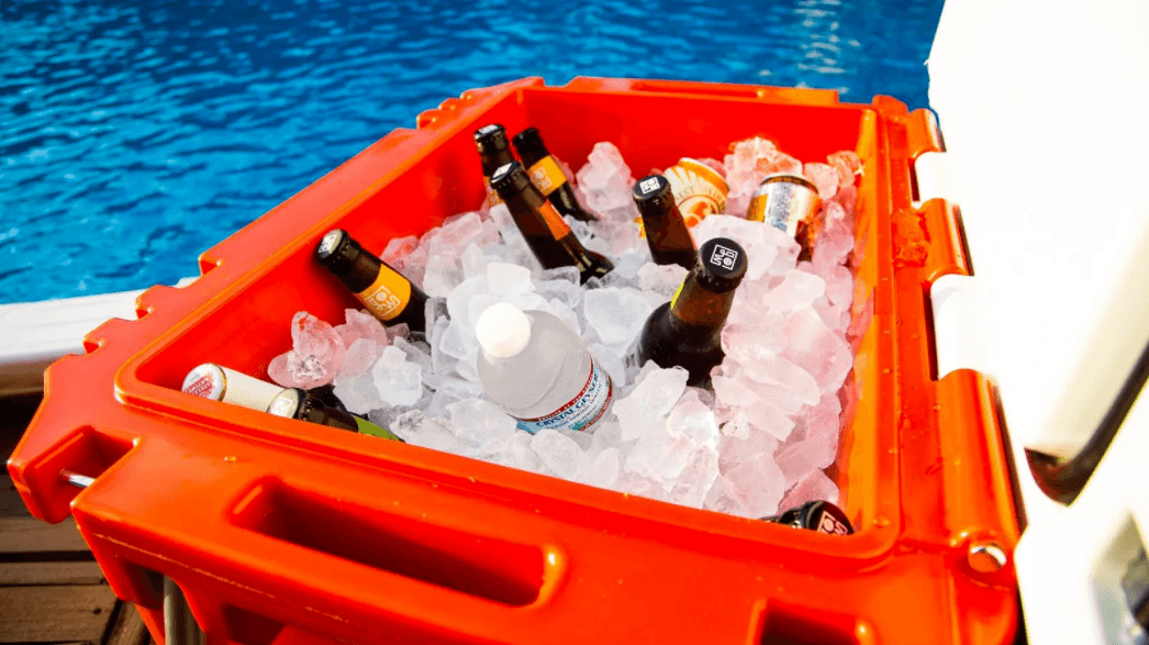 cooler with beverages