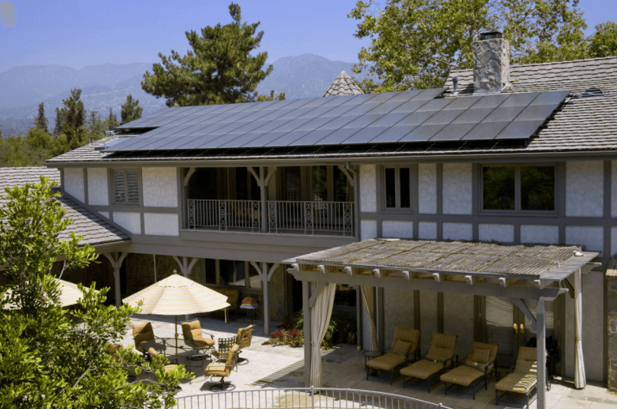 solar panel at home