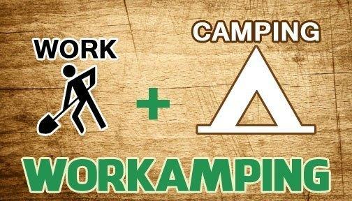 work plus camping illustration