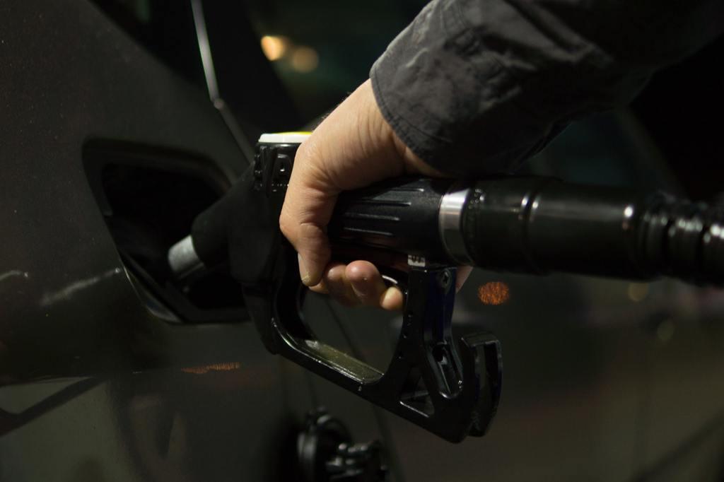 filling up fuel tank