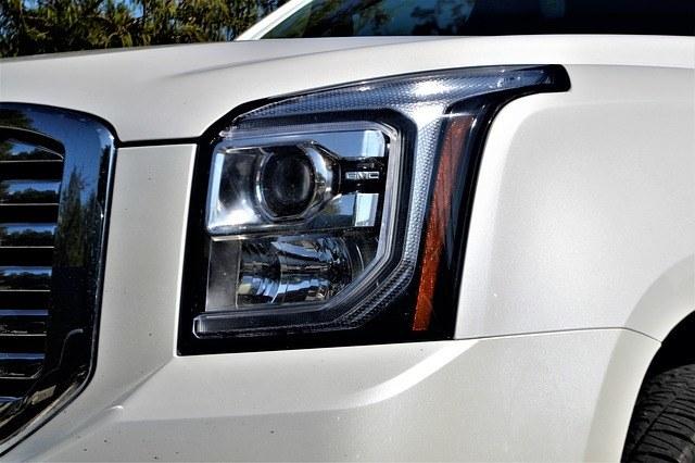 headlights of a vehicle