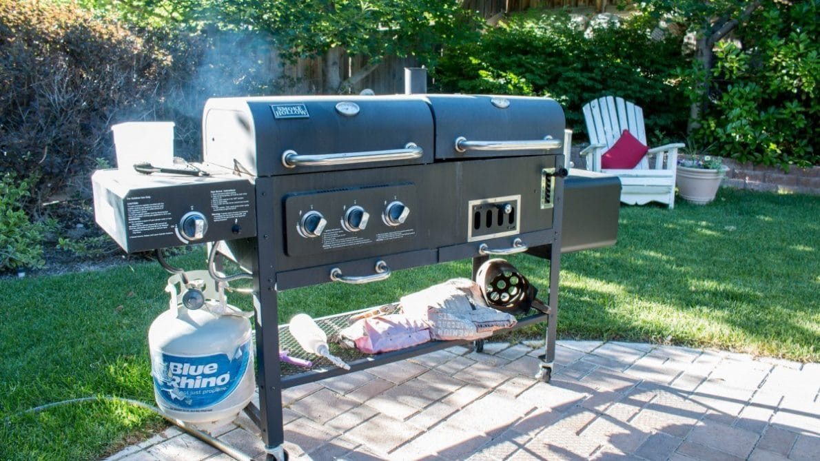 Backyard Grill with the Best RV Propane Regulator