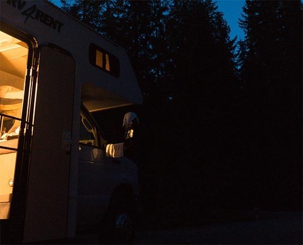 rv at night